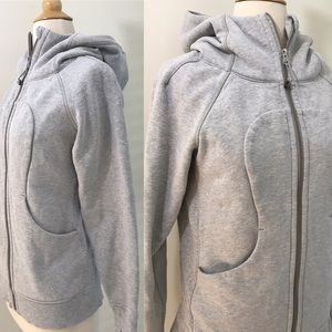 Lululemon Classic gray zip up hoodie sweatshirt 6